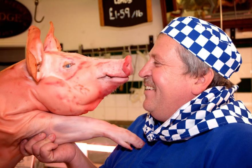 Our Head Chef with his favourite friend!